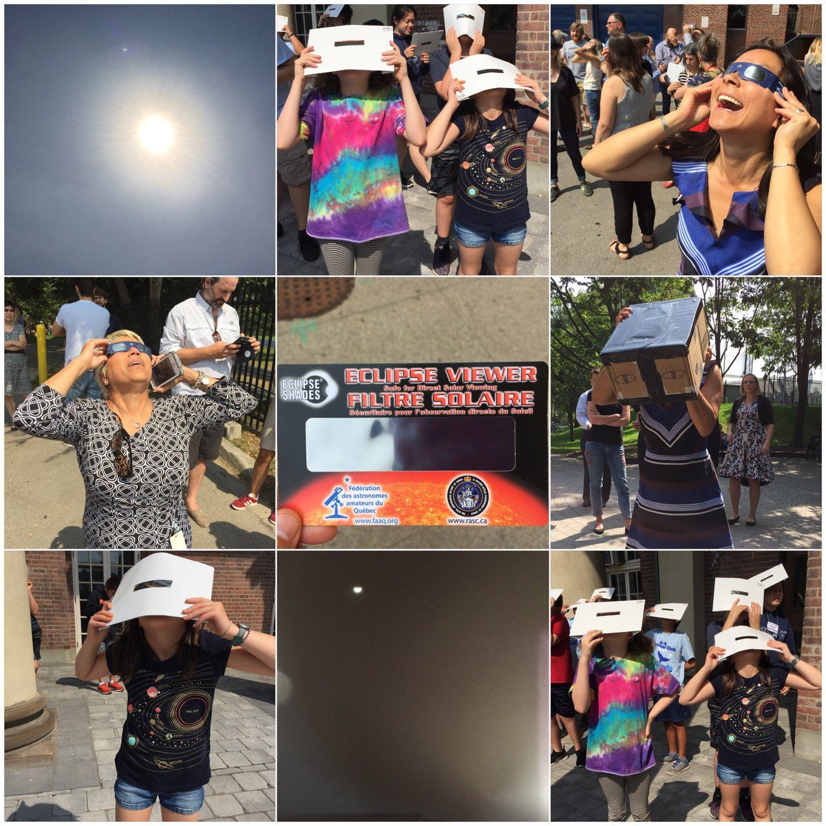 @ROMKids #SummerClub75 and @ROMPatrons viewing #epic #SolarEclipse2017 #realworldscience<br>http://pic.twitter.com/S748vsdwIw