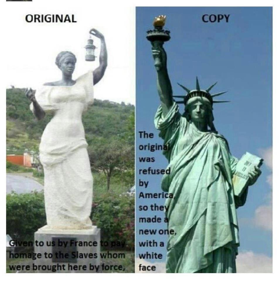 The Original Statue of Liberty Was A Bla...