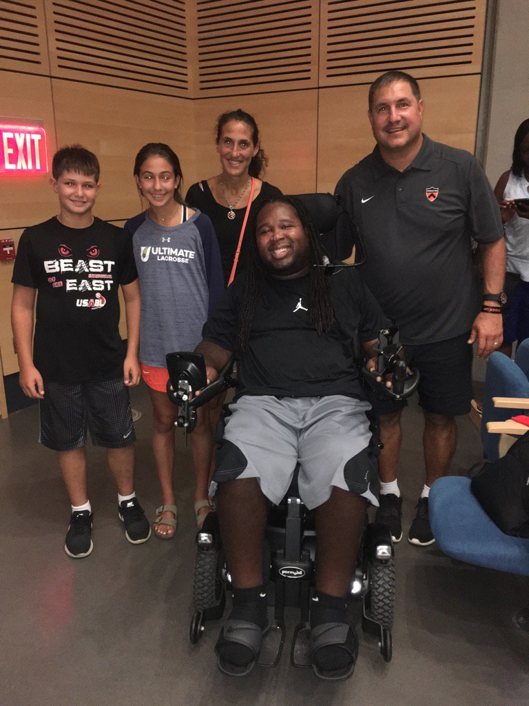Amazing inspirational speech by @EricLeGrand52 to the @PUTigerFootball team tonight. WOW! #Courage #resilience #grit<br>http://pic.twitter.com/XTCF4omQVz