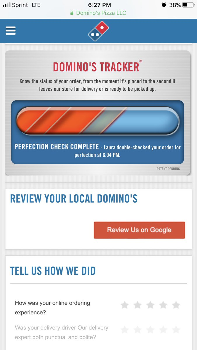 Dominos email sign up
