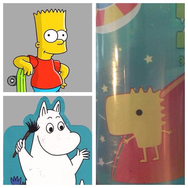 That time #BartSimpson boned a #Moomin and their terror baby became a sippy cup model. Remember that episode? #InstantFanTheory <br>http://pic.twitter.com/gl6Q5eZNCJ