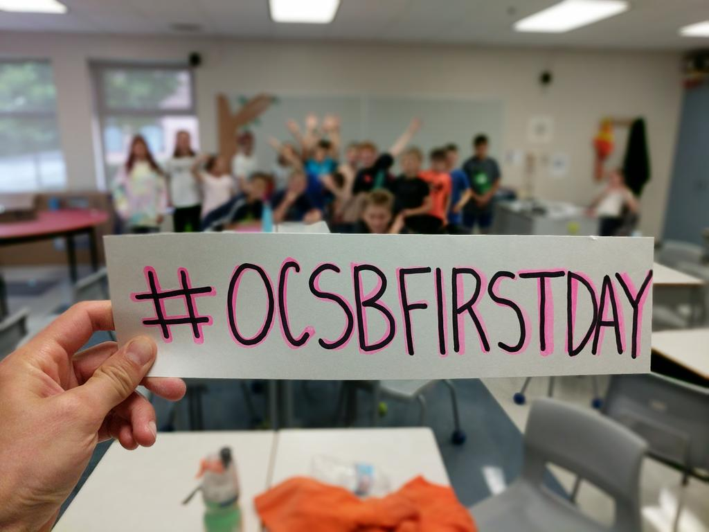 Strong start to the year!! #ocsbFirstDay https://t.co/X7rJ4l16Jw