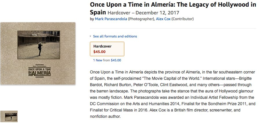 #OnceUponaTimeinAlmeria A Legacy of Hollywood in Spain now listed on http://Amazon.com! Coming Fall 2017 from @DaylightBooks