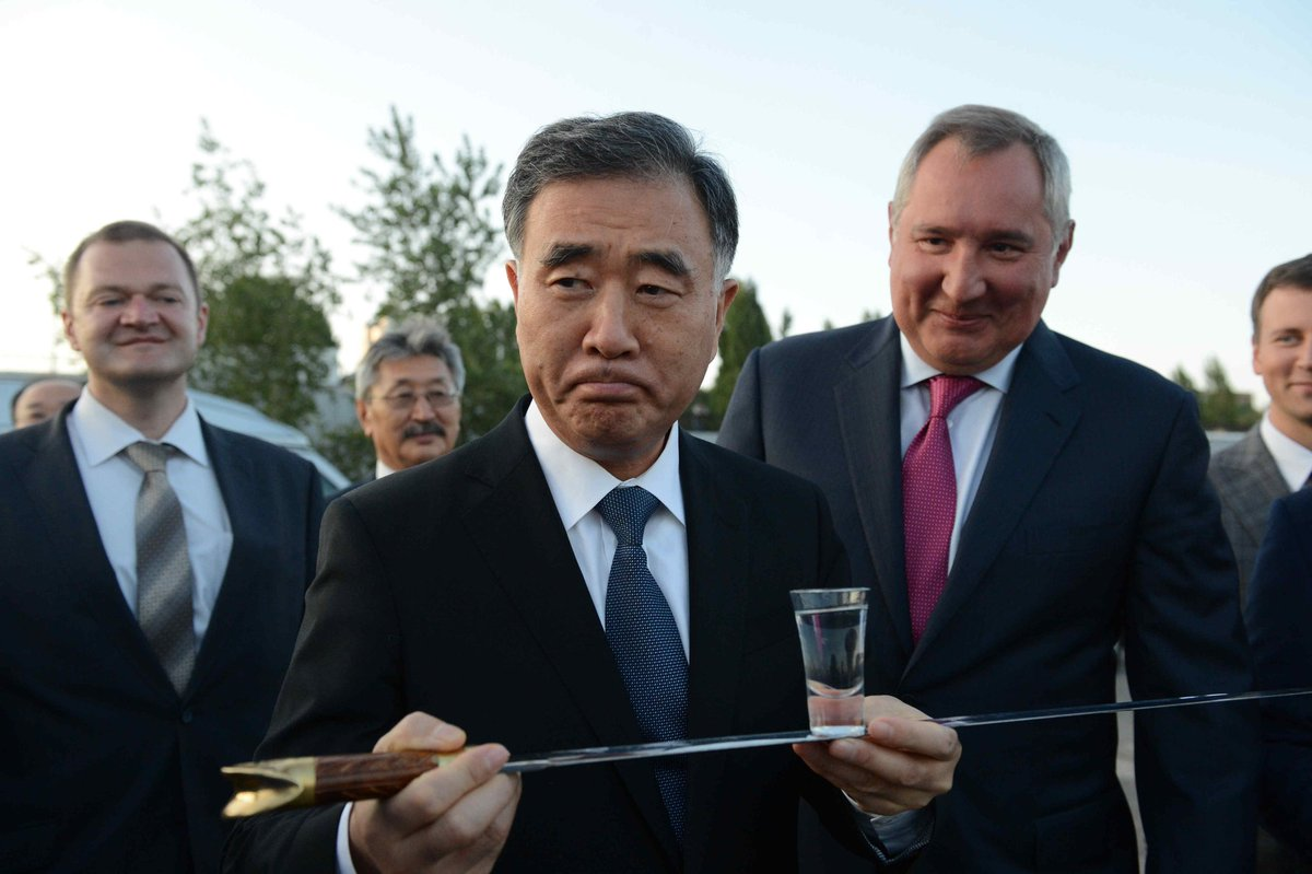 A warm welcome from Don Cossacks to Vice-Premier of People's Republic of China Wang Yang