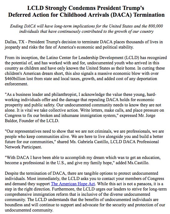Lcld On Twitter Daca Sample Letter Https T Co Qehjewgbno Find