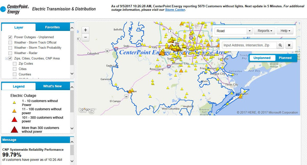 CenterPoint Energy on Twitter 3408 customers still impacted by