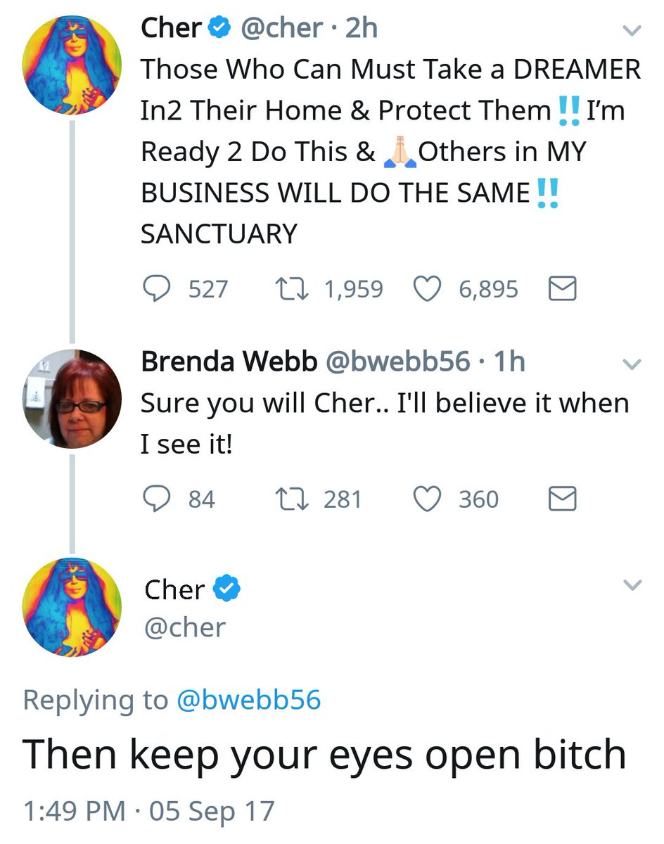 Cher has time & a full clip for whoever want it today.