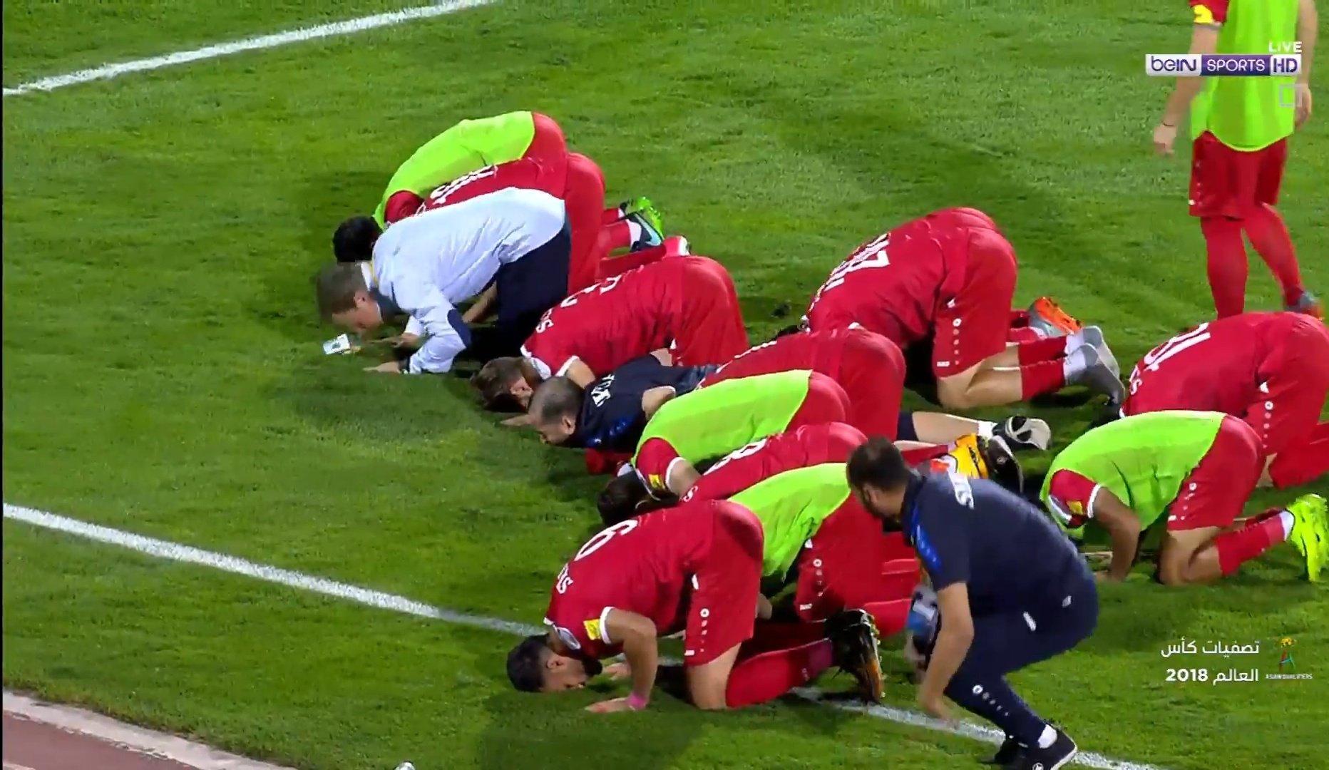 هدف السومة القاتل في شباك ايران يعيد آمال سوريا في التأهل لكأس العالم