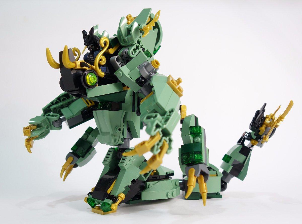 green ninjago mech dragon instructions