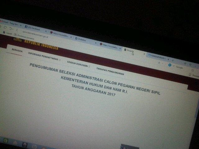 Download Pengumuman Kelulusan Administrasi CPNS KEMENKUMHAM