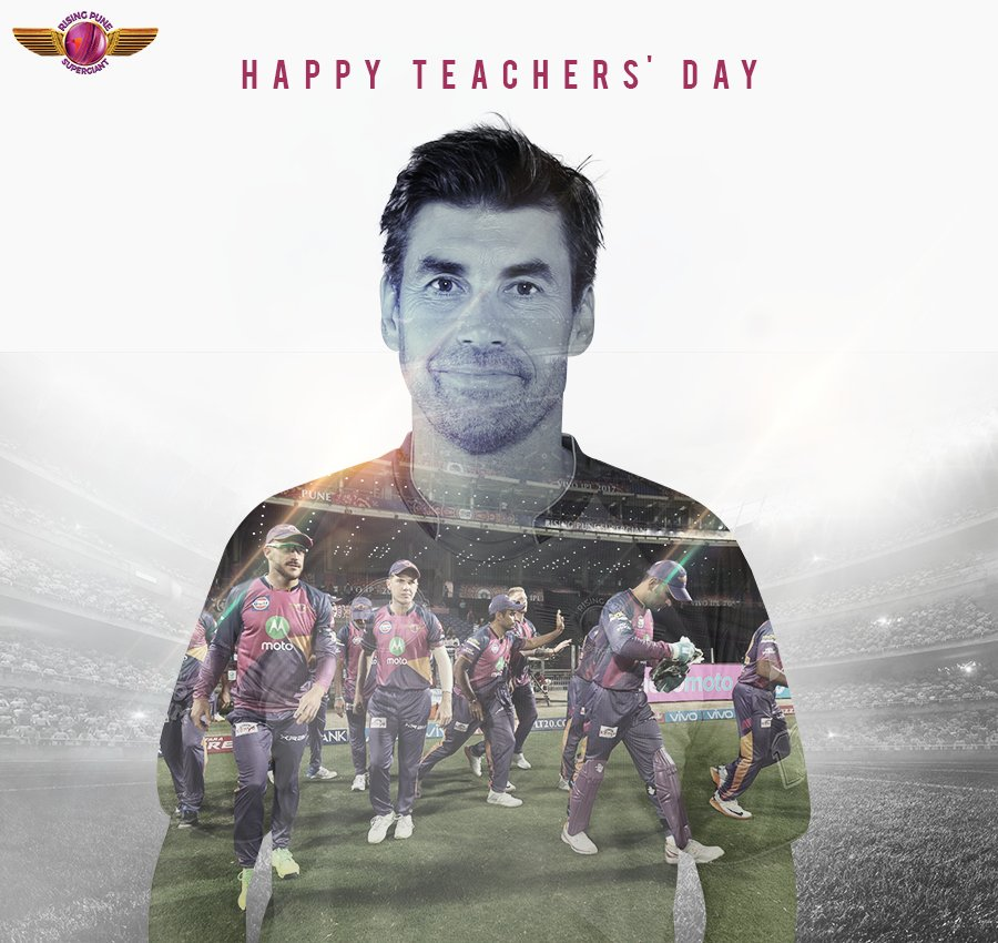 Thank you for the motivation & nurturing that has made us who we are today.  #HappyTeachersDay to our coach @SPFleming7 & all the teachers!
