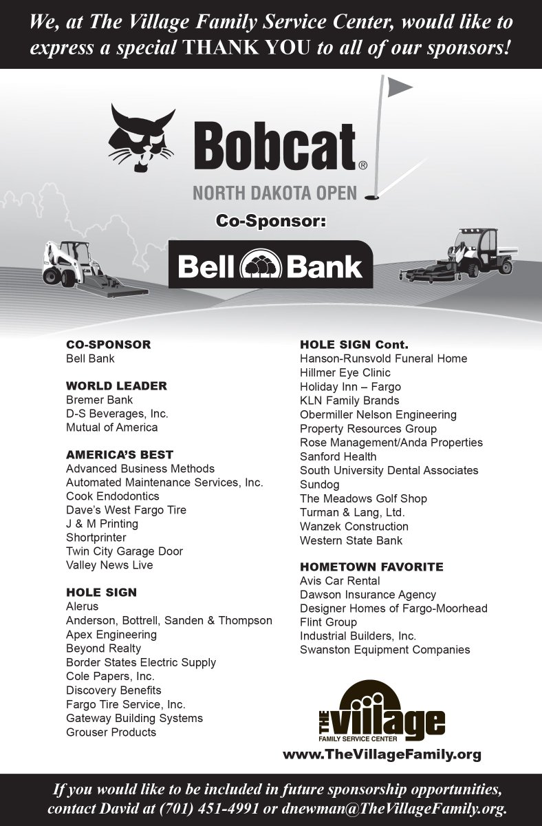 Bobcat Nd Open On Twitter A Huge Thank You To The
