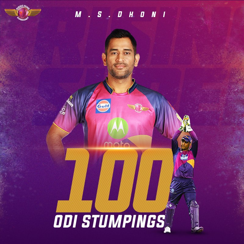The helicopter @msdhoni  becomes the first ever to reach 💯 stumpings in ODI cricket! Full marks as always 🏆 Congratulations MSD!👏 #SLvIND
