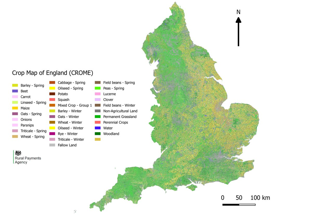Map Of England 2017.Dr Gwawr Jones On Twitter Highly Accurate Crop Map Of