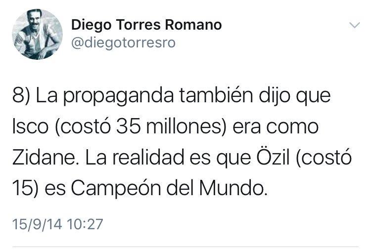 Uno que siempre creyó en Isco fue @diegotorresro https://t.co/diL3OqHwDP