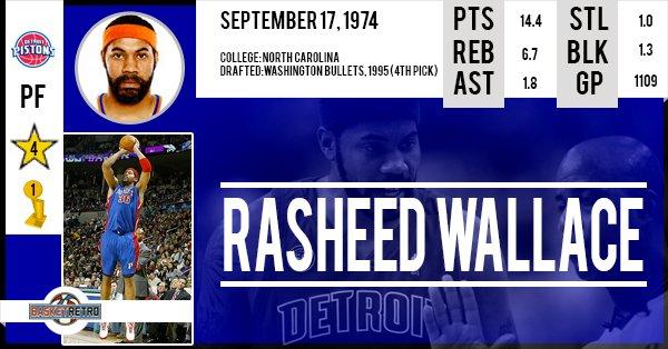 Happy birthday Rasheed Wallace