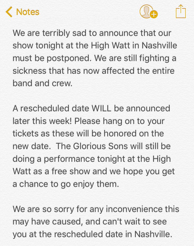 greta van fleet on twitter we will reschedule stay tuned