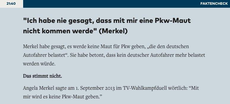 Merkel über Zitat zur Pkw-Maut – #Faktencheck zum TV-Duell https://t.co/VPJLMFPauR #tvduell #btw17