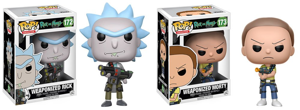 RT & follow @OriginalFunko for a chance to win a Weaponized #RickandMorty Pop! 2-pack!
