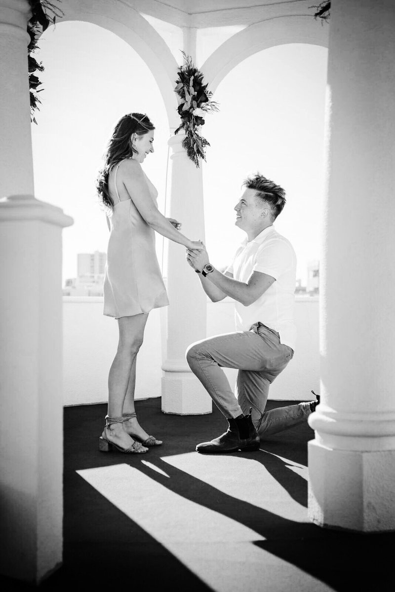 I got on one knee on a rooftop in Portugal and asked her to be my co-op partner for life.