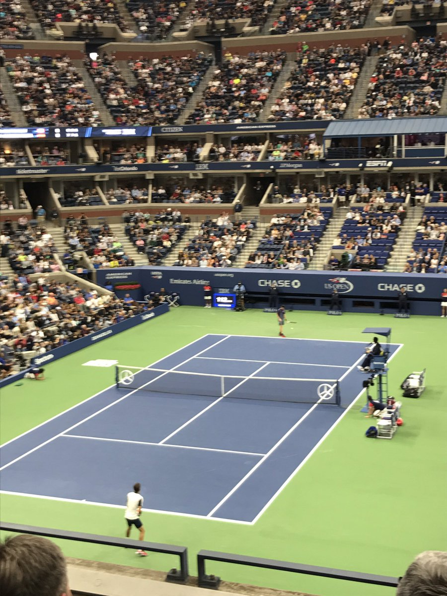 Unreal time at the US open today. Huge @denis_shapo fan now, going to be fun watching him win that tournament and many more. #canadianbeauty https://t.co/5CCRpyreCY