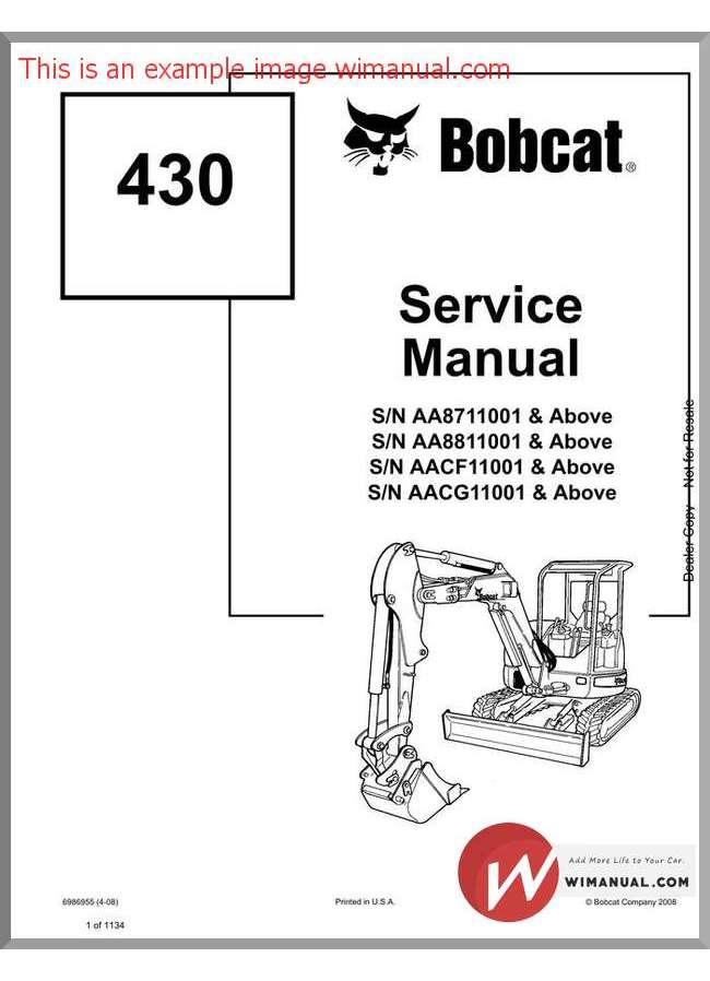 Bobcat 430 Service manual
