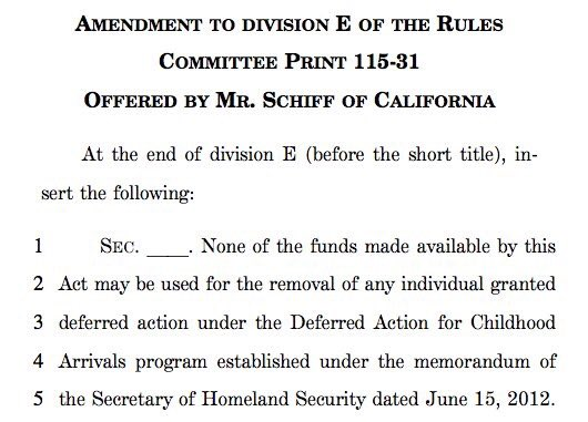 @POTUS Congress can't stand idly by and watch families torn apart. We can vote, this week. I have amendment to defund any effort to deport DREAMers https: