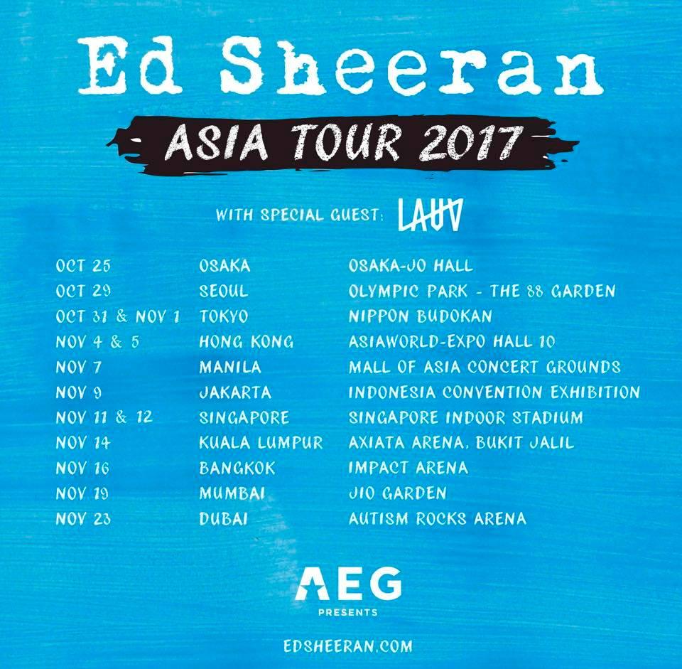 Ed Sheeran World Tour Asia