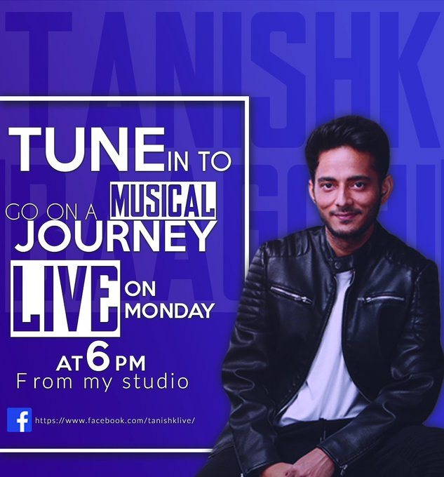 Live at 6 pm from my studio #TutorialswithTanishk  #liveat6 https://t.co/JwLwOUPuIy