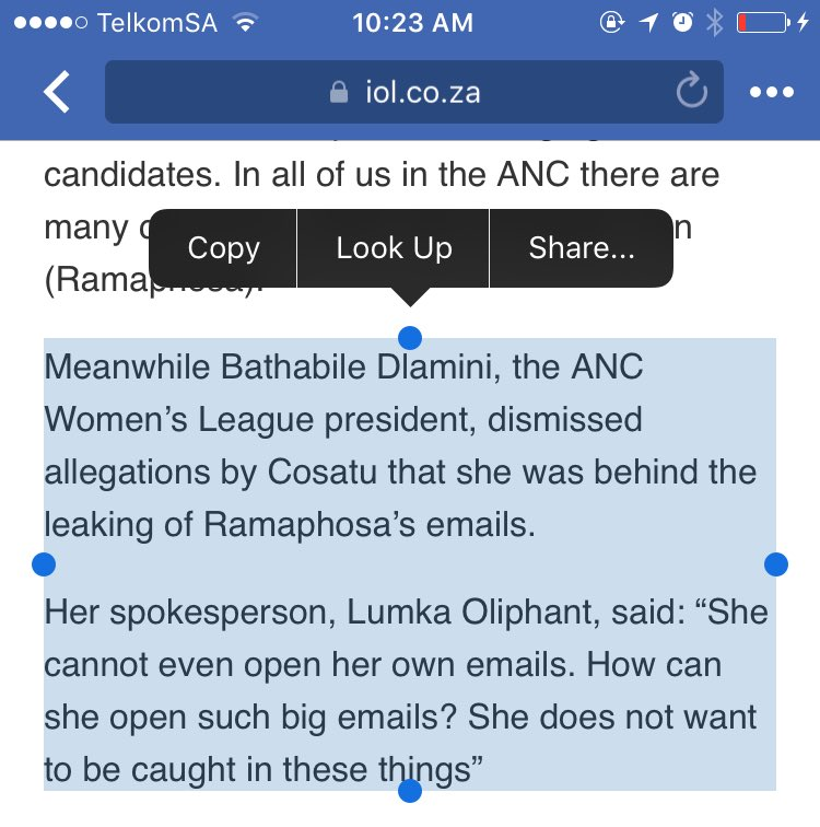 What is Lumka Oliphant saying about her boss, she's computer illiterate? https://t.co/3O8zgce3v6