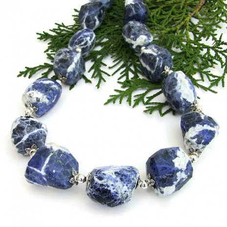 Beautiful blue & white sodalite chunky necklace! https://t.co/7H80PfVCL8 #handmade #Indiemade https://t.co/xJ4JT5oMPV