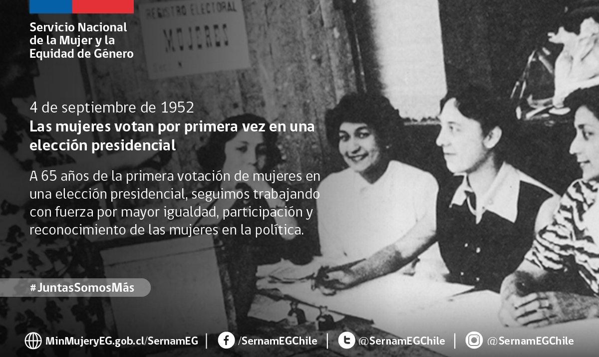 Sernameg Chile On Twitter Undiacomohoy Las Mujeres