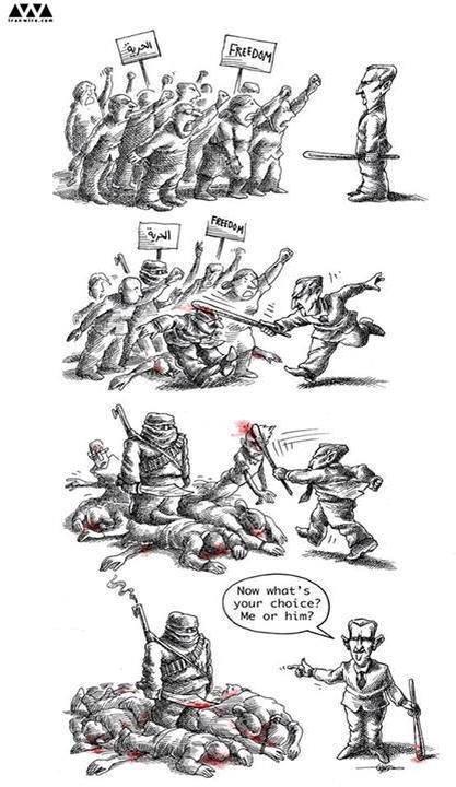 El conflicto sirio en cuatro viñetas. #Siria https://t.co/yAPVQeZh3n
