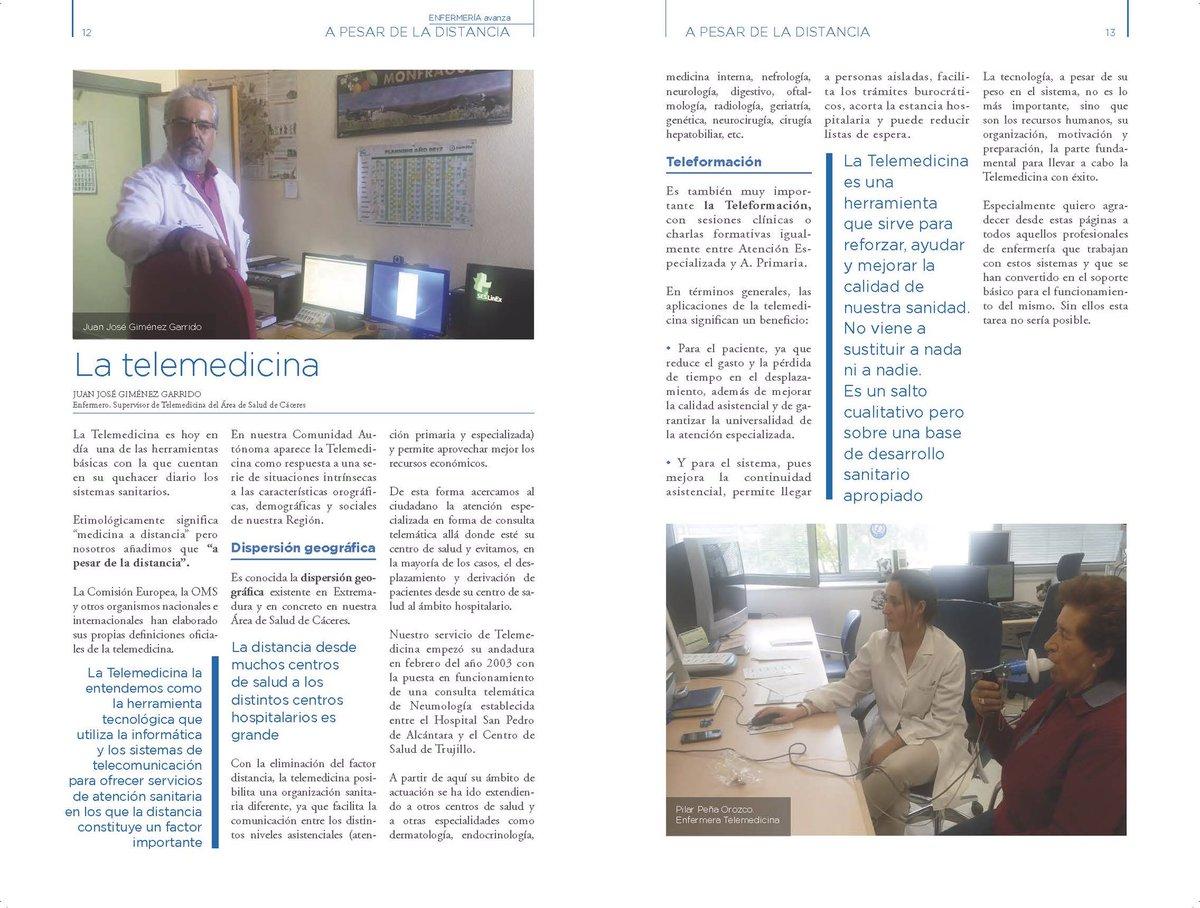 Abordamos la importancia de la #Telemedicina con Juan José Giménez Garrido, supervisor del Área de Salud de Cáceres en #EnfermeríaAvanza