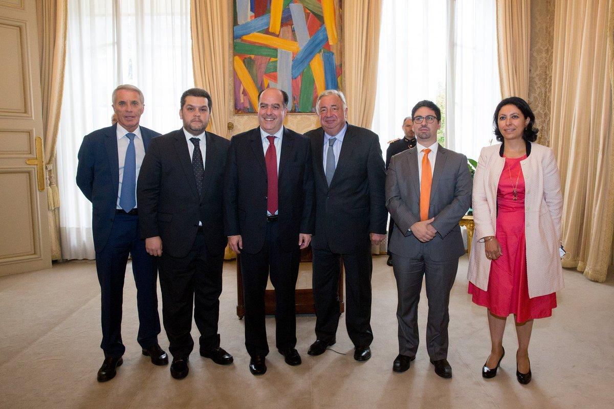 Borges y Guevara se reúnen con el presidente del Senado francés como parte de la gira por Europa