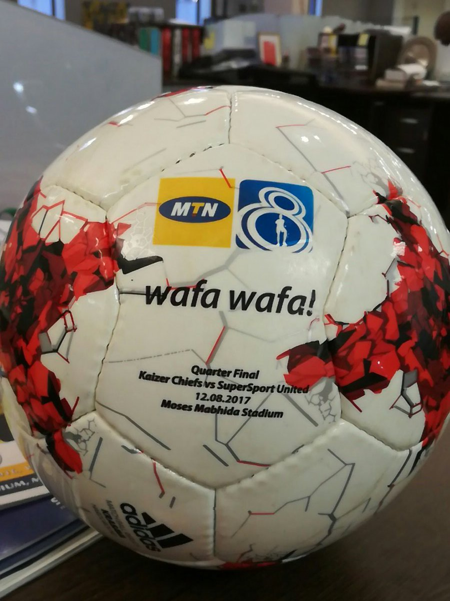 Wafa Wafa action returns this week, and one fan will walk away with this match ball by simply retweeting this. #MTN8 https://t.co/6WkRceWLxO