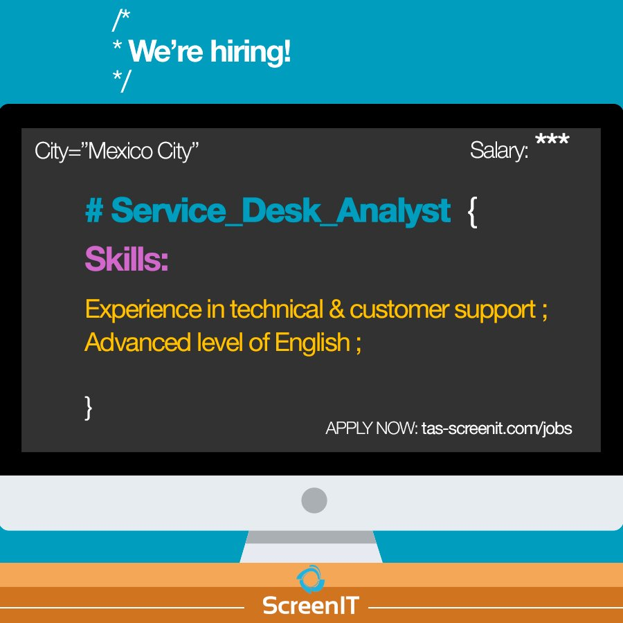 Service Desk Analyst! #atencionacliente #empleos #buscotrabajo  http:// bit.ly/2w3NmVO  &nbsp;   - Apply now <br>http://pic.twitter.com/tyET1BEBds