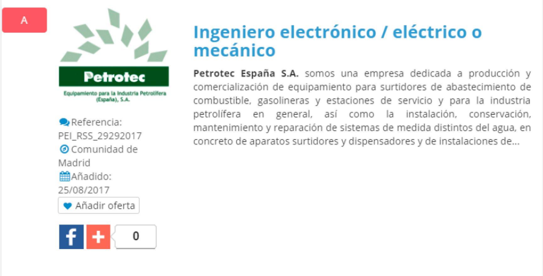 @proempleoing #empleo Ingeniero electrónico / eléctrico o mecánico - Madrid  https://t.co/O2KMb5wtSj https://t.co/Nxpl67HHau