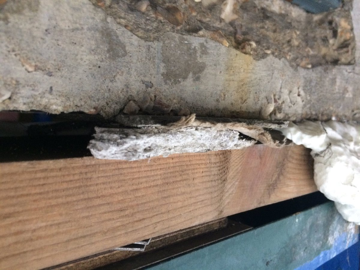 Window Fitters Used Whatever Was To Hand So There Is A Mix Of Materials Here Including Asbestos Insulation Board Tco KHI1TYhj8x