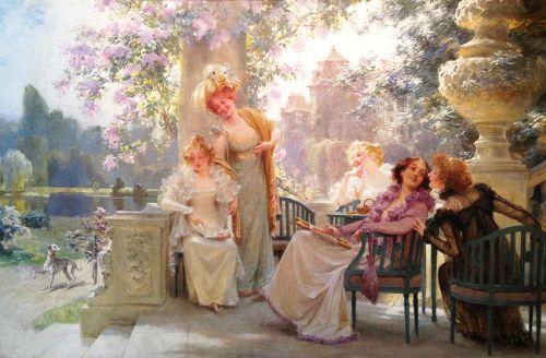 Alois Hans SCHRAM Springtime with Friends 1890: Via Alois Hans S  http:// bit.ly/2wAUwBR  &nbsp;   #peintures <br>http://pic.twitter.com/0kPkbyLs6q