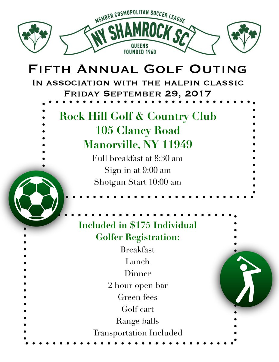 Uncategorized Legend Of The Shamrock the rocks nyshamrocksc twitter 5th annual ny shamrock sc golf outing will be taking place in a short time for those interested contact us