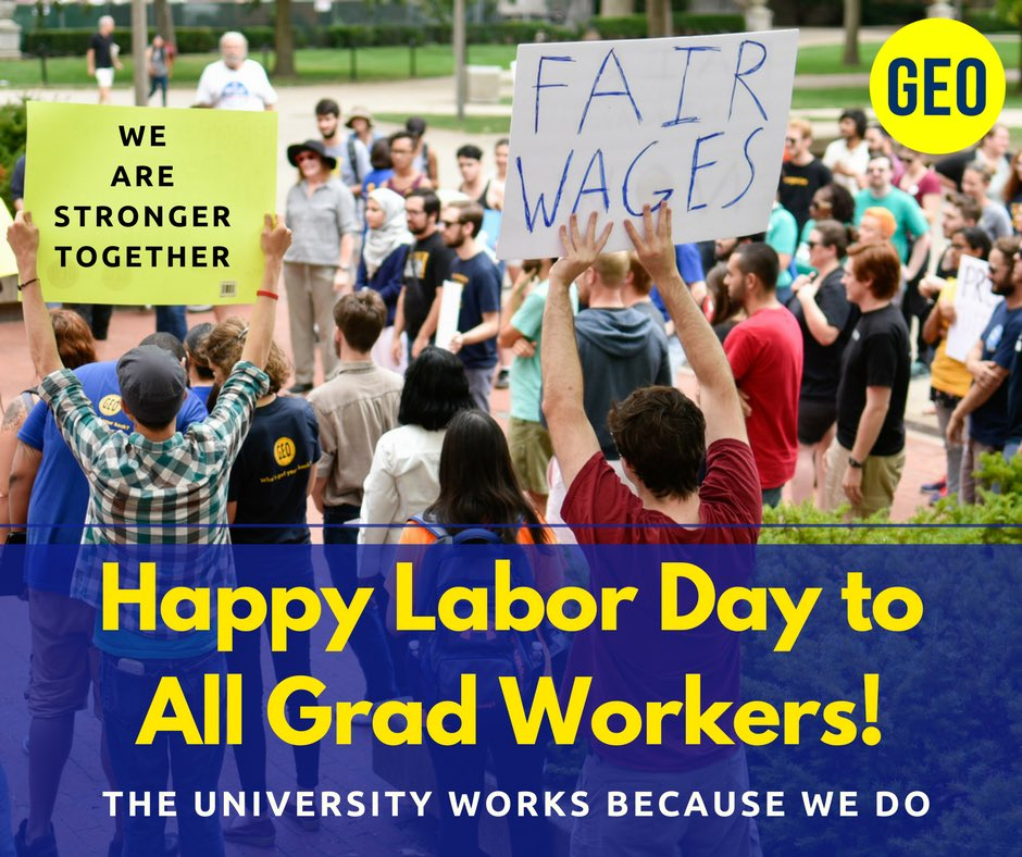 Happy Labor Day to all #GradWorkers! Grilling today for Labor Day? Here&#39;s your soundtrack #1u  http://www. cbc.ca/beta/news/cana da/hamilton/talk/union-songs-1.1381281 &nbsp; … <br>http://pic.twitter.com/NGweKnVea0
