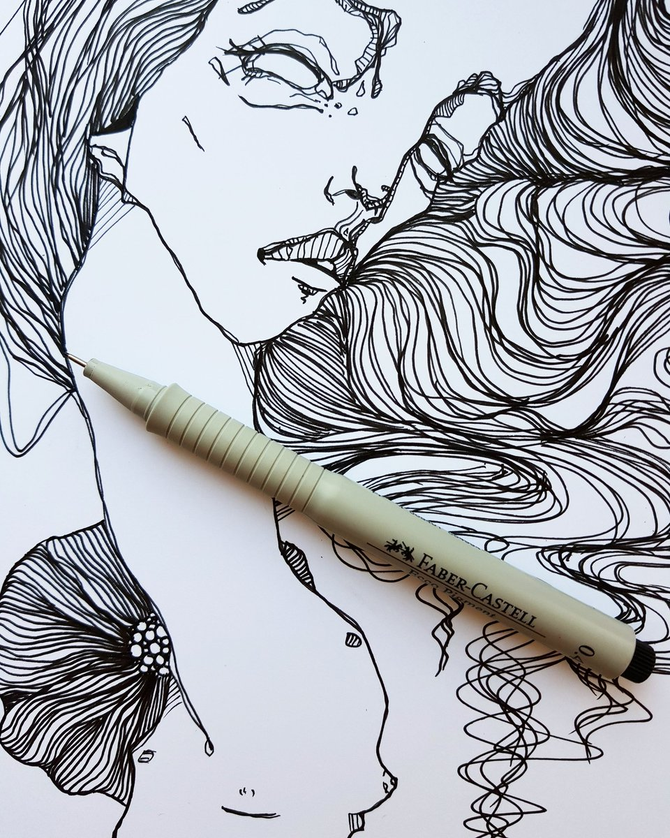 anna tsvell on twitter today s ink on paper in progress art