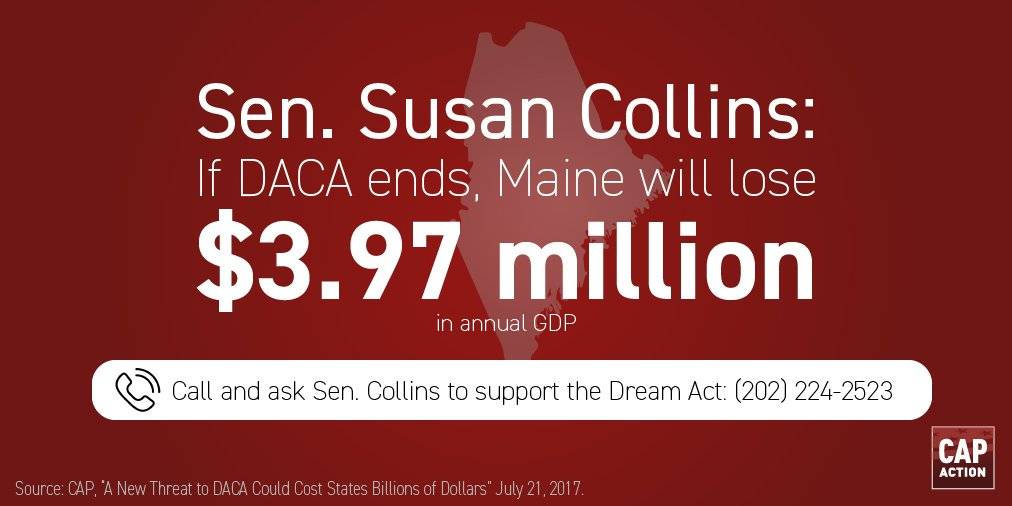 #DACA repeal = 50 ME DREAMers subject to deportation. @SenatorCollins, Reject nativism. Support #DreamAct