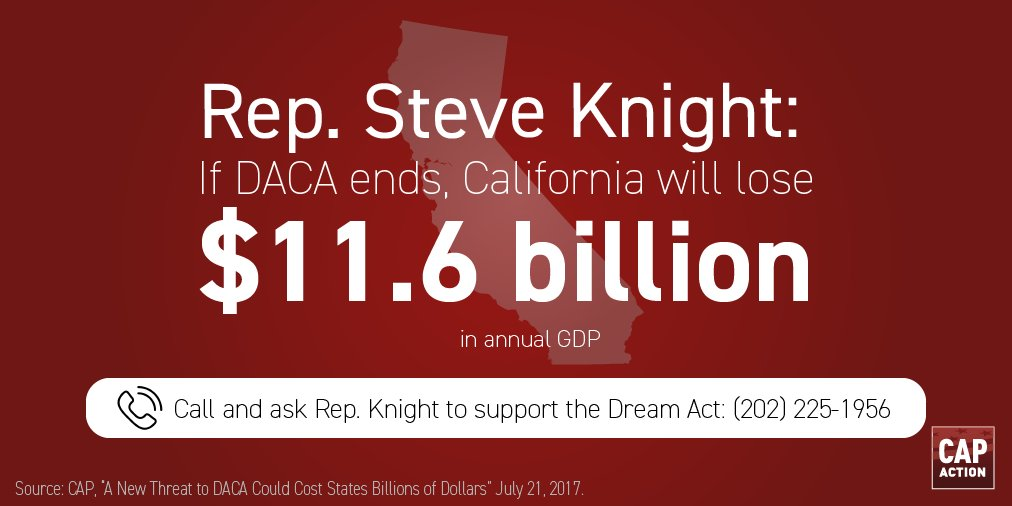 #DACA repeal = 216,060 CA DREAMers subject to deportation. @SteveKnight25, Reject nativism. Support #DreamAct