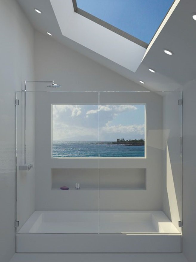 Today&#39;s #Interior #inspiration photo Lovely #Shower with a great #view Source Pinterest  #bathroom #badkamer #interieur #inspiratie #baño <br>http://pic.twitter.com/bFZkVSsYfB