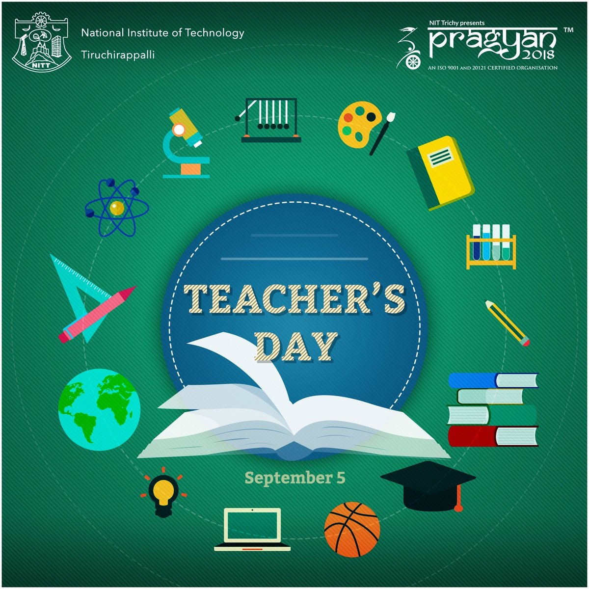 On this #TeachersDay, #Pragyan extends its sincere gratitude towards all teachers for playing a pivotal role in the lives of their students! <br>http://pic.twitter.com/0hymLlCPzN