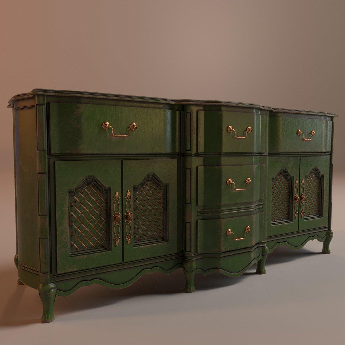 Vintage Green Cabinet With Max Zbursh Allegorithmic Substance Painter Art Pbr Https Goo Gl M1tsbw Pic Twitter Vwehtvlnga