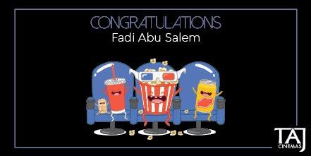 Congratulations to @FadiAbusalem you won 2 tickets with TAJ Cinemas. The correct answer was 6 differences. #TAJCinemas #Movies #Jo #Amman https://t.co/uip1dcmnZZ