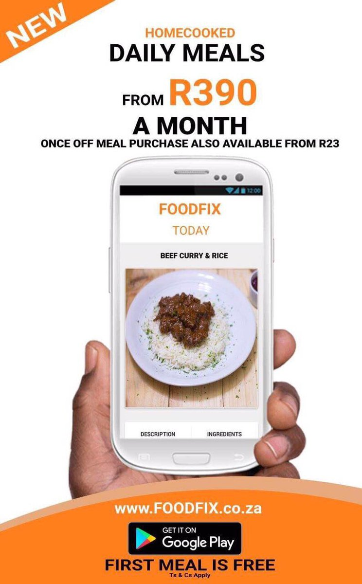 Foodfix Home Cooked Meals Delivered Foodfixsa Twitter